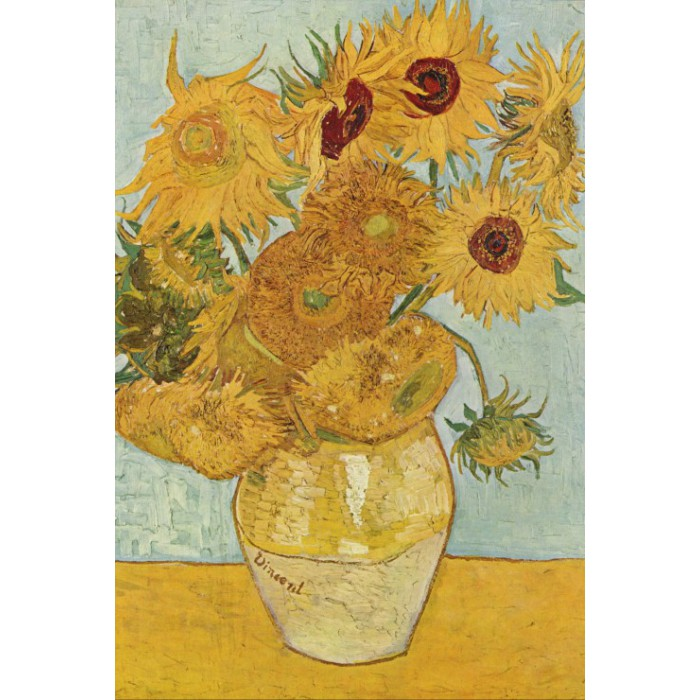Puzzle Grafika-Kids-00033 Vincent van Gogh: Vase with 12 sunflowers, 1888