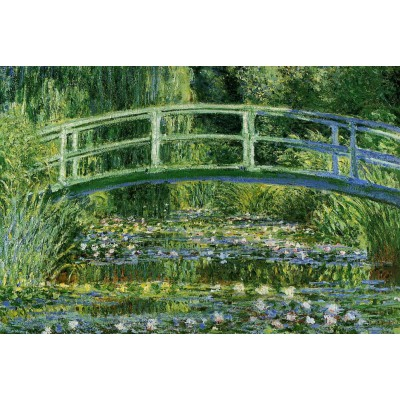 Puzzle  Grafika-Kids-00094 Claude Monet: Water Lilies and the Japanese bridge, 1897-1899
