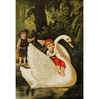 Puzzle  Grafika-Kids-00113 XXL Pieces - Hansel and Gretel, illustration by Carl Offterdinger