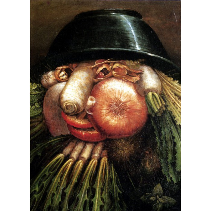 Grafika-Kids-00215 Magnetic Puzzles - Arcimboldo Giuseppe: The Greengrocer