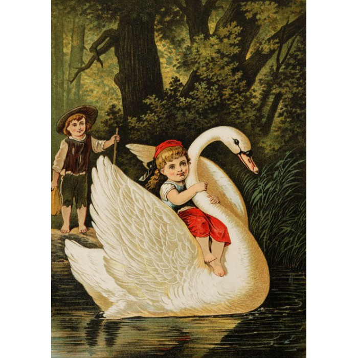 Puzzle Grafika-Kids-00237 Magnetic Pieces - Hansel and Gretel, illustration by Carl Offterdinger