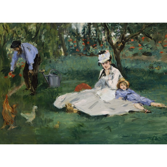 Puzzle Grafika-Kids-00317 Edouard Manet - The Monet Family in Their Garden at Argenteuil, 1874