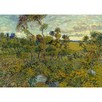 Puzzle  Grafika-Kids-00426 Magnetic Pieces - Van Gogh: Sunset at Montmajour, 1888