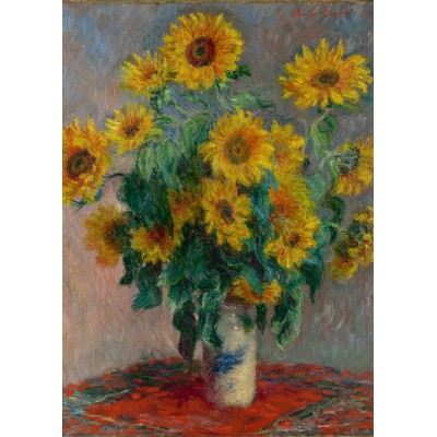 Puzzle  Grafika-Kids-00458 Claude Monet: Bouquet of Sunflowers, 1881