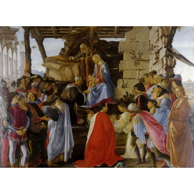 Puzzle  Grafika-Kids-00690 Sandro Botticelli: Adoration of the Magi (Zanobi Altar), 1475