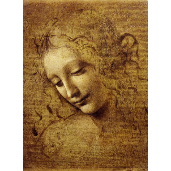 Puzzle Grafika-Kids-00711 Leonardo da Vinci : The Face of Giovane Fanciulla, 1508