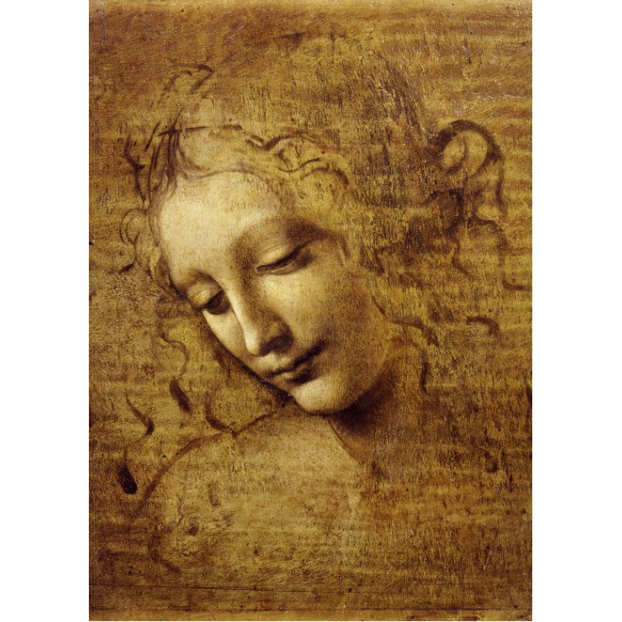 Puzzle Grafika-Kids-00714 Magnetic Pieces - Leonardo da Vinci : The Face of Giovane Fanciulla, 1508