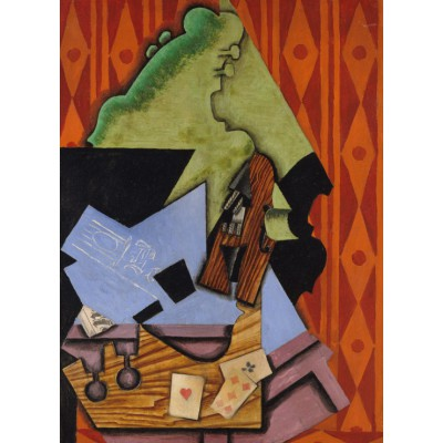Puzzle  Grafika-Kids-00716 Juan Gris: Violin and Playing Cards on a Table, 1913