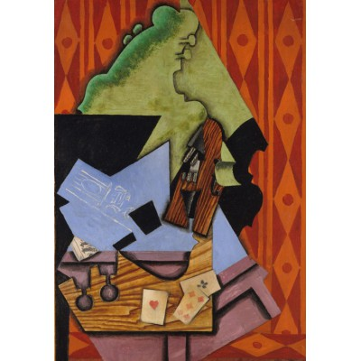 Puzzle  Grafika-Kids-00717 Juan Gris: Violin and Playing Cards on a Table, 1913
