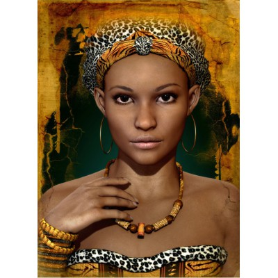 Puzzle  Grafika-Kids-00720 African Woman