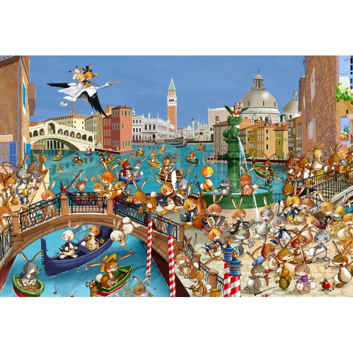 Puzzle Grafika-Kids-00859 XXL Pieces - François Ruyer: Venice