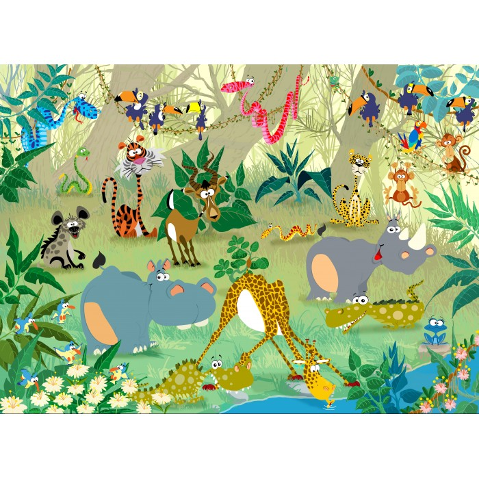 Puzzle Grafika-Kids-00868 François Ruyer: Jungle