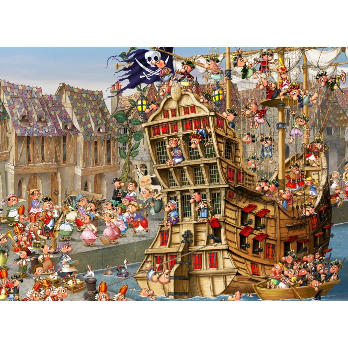 Puzzle Grafika-Kids-00899 François Ruyer: Pirates