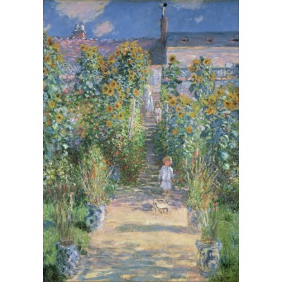 Puzzle  Grafika-Kids-01017 Claude Monet - The Artist's Garden at Vétheuil, 1880
