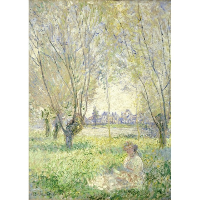 Puzzle Grafika-Kids-01030 Magnetic Pieces - Claude Monet - Woman Seated under the Willows, 1880