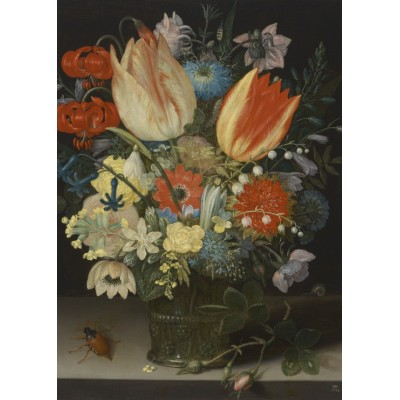 Puzzle  Grafika-Kids-01079 Magnetic Pieces - Peter Binoit: Still Life with Tulips, 1623