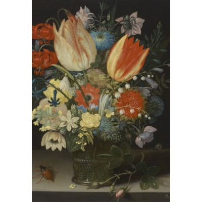 Puzzle  Grafika-Kids-01081 XXL Pieces - Peter Binoit: Still Life with Tulips, 1623