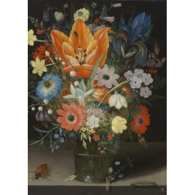 Puzzle  Grafika-Kids-01083 Magnetic Pieces - Peter Binoit: Still Life with Iris, 1623