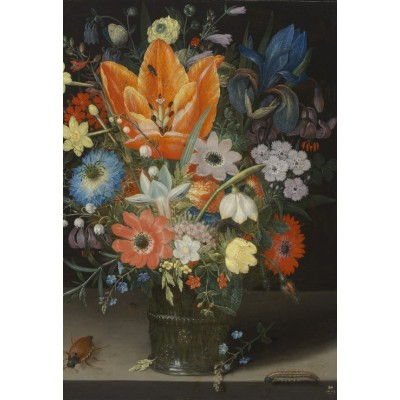 Puzzle  Grafika-Kids-01085 XXL Pieces - Peter Binoit: Still Life with Iris, 1623