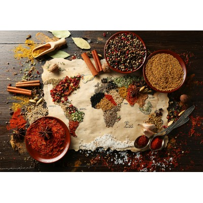 Puzzle  Grafika-Kids-01110 World map in Spices