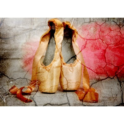 Puzzle  Grafika-Kids-01159 Magnetic Pieces - Vintage Dancing Shoes