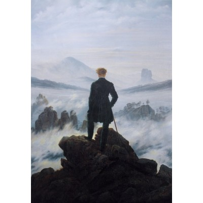 Puzzle  Grafika-Kids-01259 Caspar David Friedrich - Wanderer above the sea of fog, 1818