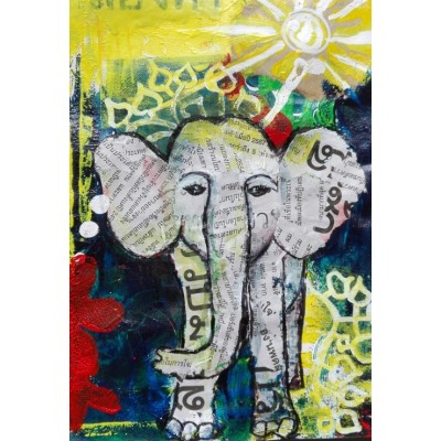 Puzzle  Grafika-Kids-01273 XXL Pieces - Thai Elephant