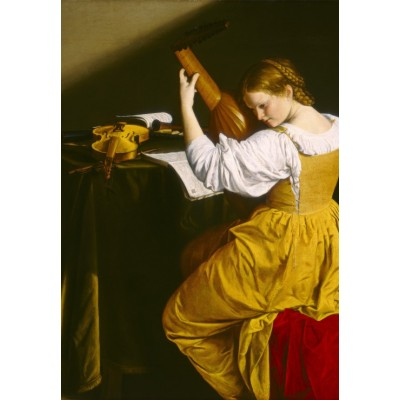 Puzzle  Grafika-Kids-01283 Orazio Gentileschi: The Lute Player, 1612/1620