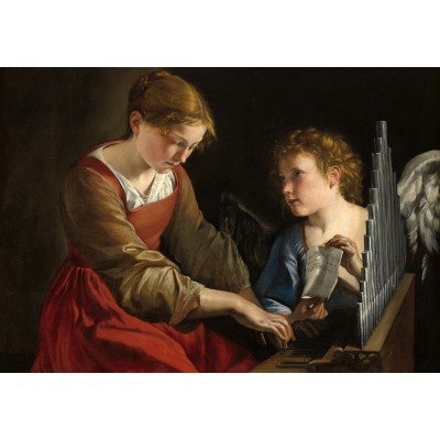 Puzzle  Grafika-Kids-01284 Orazio Gentileschi and Giovanni Lanfranco: Saint Cecilia and an Angel, 1617/1618