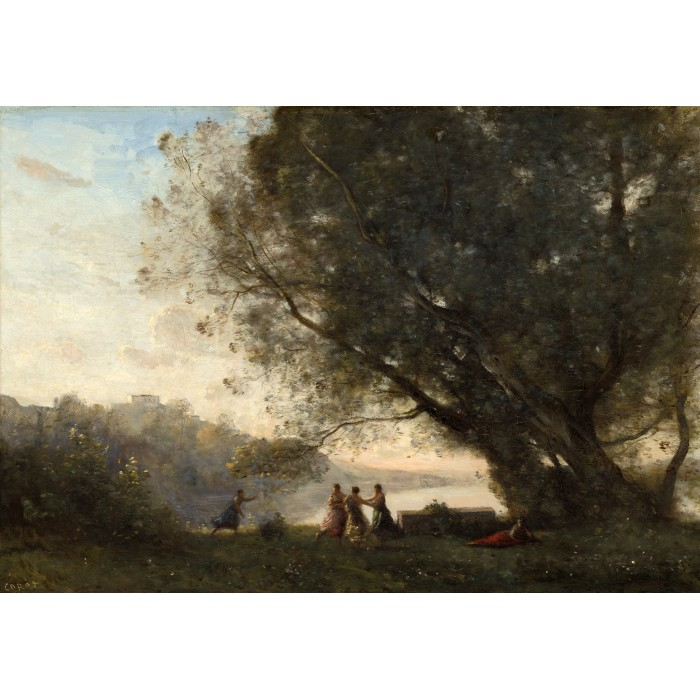 Puzzle Grafika-Kids-01352 Jean-Baptiste-Camille Corot: Dance under the Trees at the Edge of the Lake, 1865-1870
