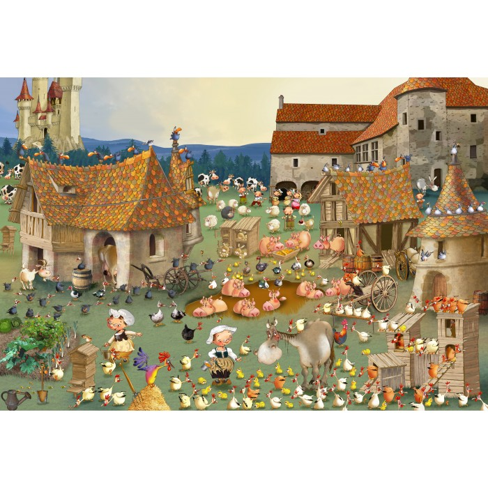 Puzzle Grafika-Kids-01462 XXL Pieces - François Ruyer - Farm