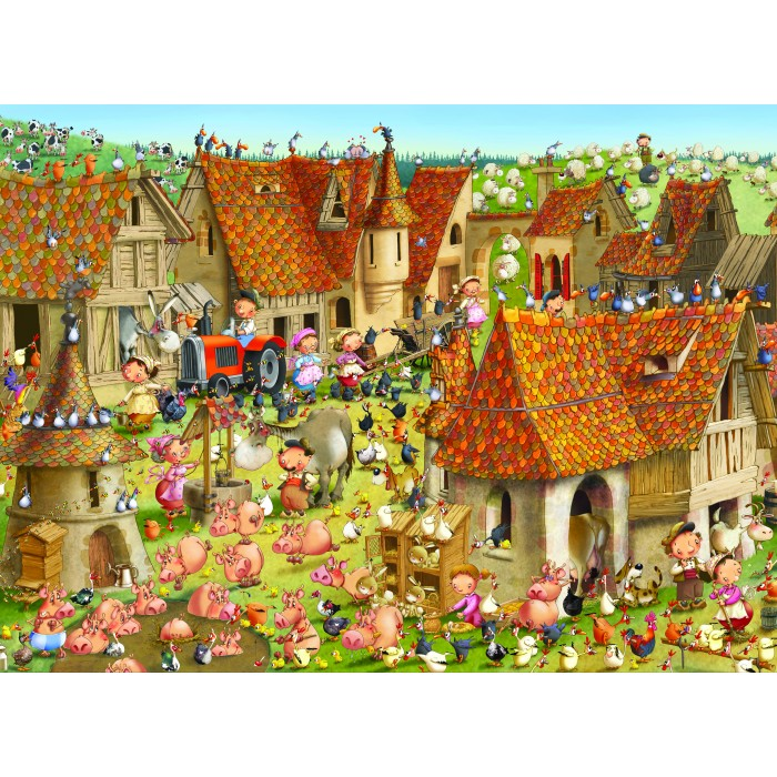 Puzzle Grafika-Kids-01463 François Ruyer - Farm