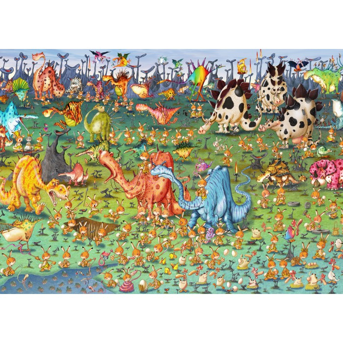 Puzzle Grafika-Kids-01469 Magnetic Pieces - François Ruyer - Dinosaurs