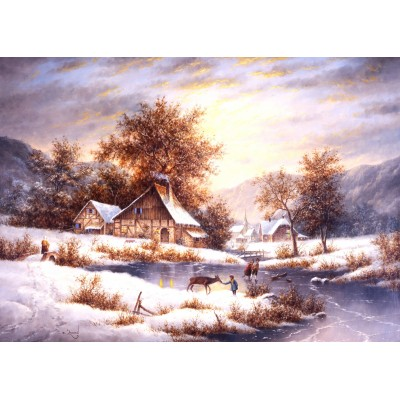 Puzzle  Grafika-Kids-01857 Magnetic Pieces - Dennis Lewan - Amber Sky Of Winter