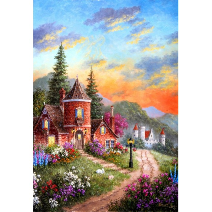 Puzzle Grafika-Kids-01904 XXL Pieces - Dennis Lewan - Castle Ridge Manor