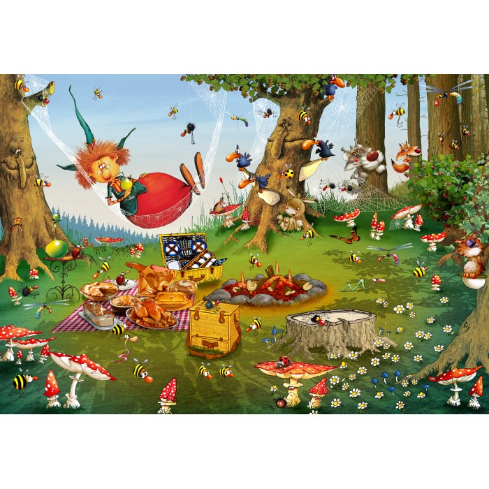Puzzle Grafika-Kids-01971 François Ruyer - Witch