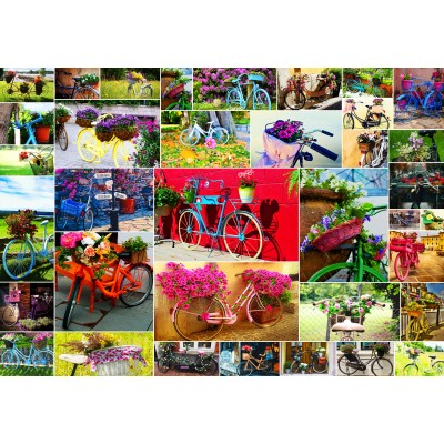Puzzle  Grafika-Kids-02107 Collage - Bikes