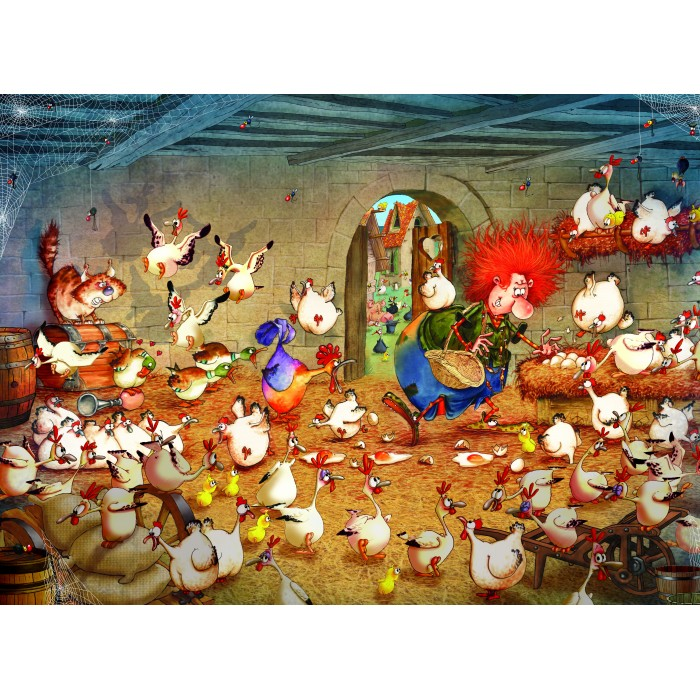 Puzzle Grafika-Kids-02118 Crazy Chicken Coop