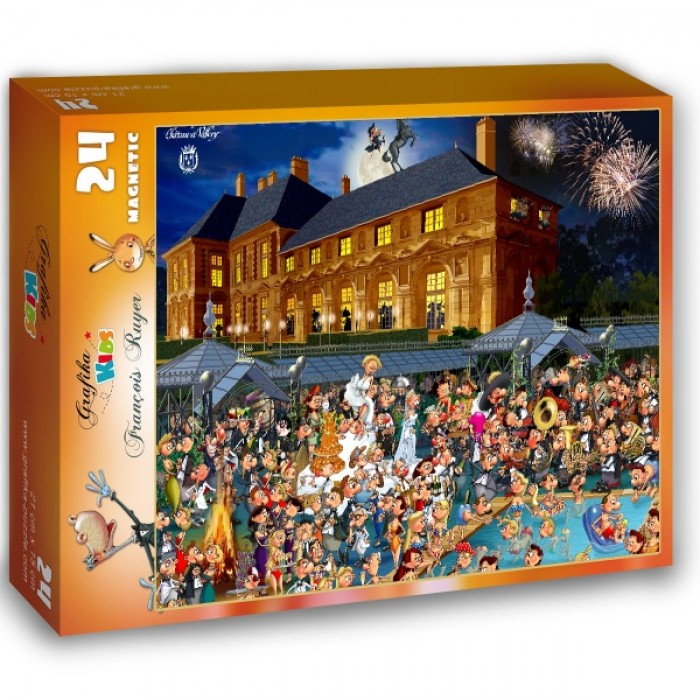 Puzzle Grafika-Kids-01433 Magnetic Pieces - François Ruyer: Château de Vallery