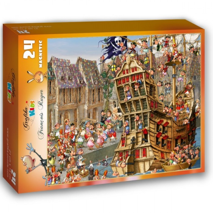 Puzzle Grafika-Kids-00902 Magnetic Pieces - François Ruyer: Pirates