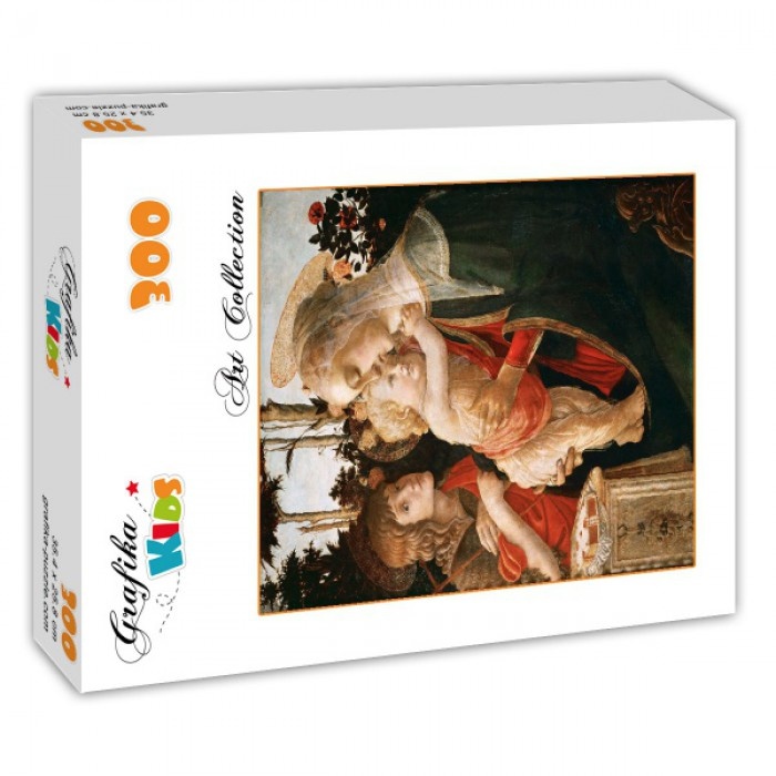 Puzzle Grafika-Kids-00702 Sandro Botticelli: Virgin and Child with Young St John the Baptist, 1470-1475