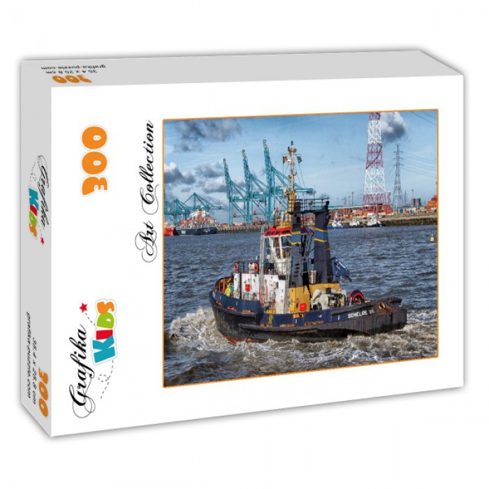 Puzzle Grafika-Kids-00598 Tugboat in Antwerp