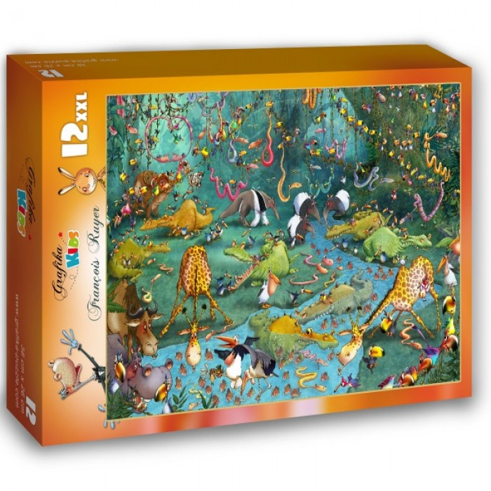 Puzzle Grafika-Kids-00806 XXL Pieces - François Ruyer: Jungle