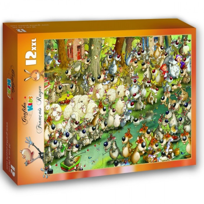 Puzzle Grafika-Kids-00918 XXL Pieces - François Ruyer: Wolves!