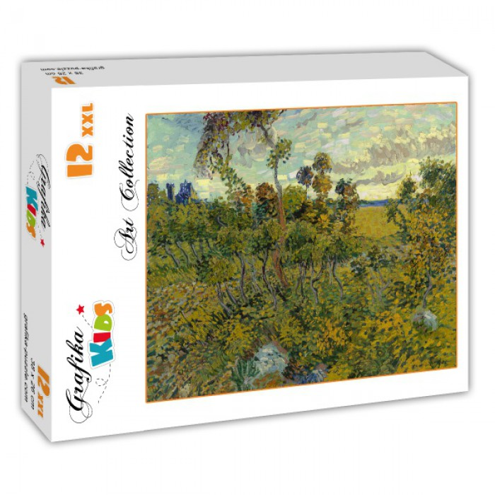 Puzzle Grafika-Kids-00427 XXL Pieces - Van Gogh: Sunset at Montmajour, 1888