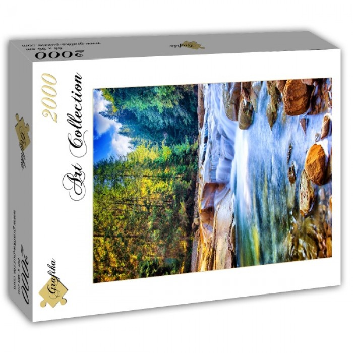 Puzzle Grafika-T-00875 Beautiful Waterfall in the Forest