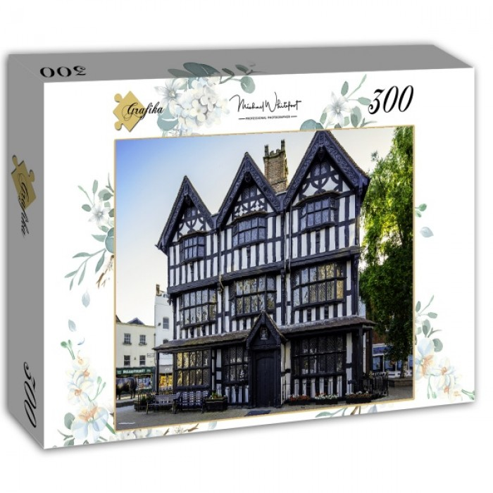 Puzzle Grafika-02921 Black & White House Museum in Hereford