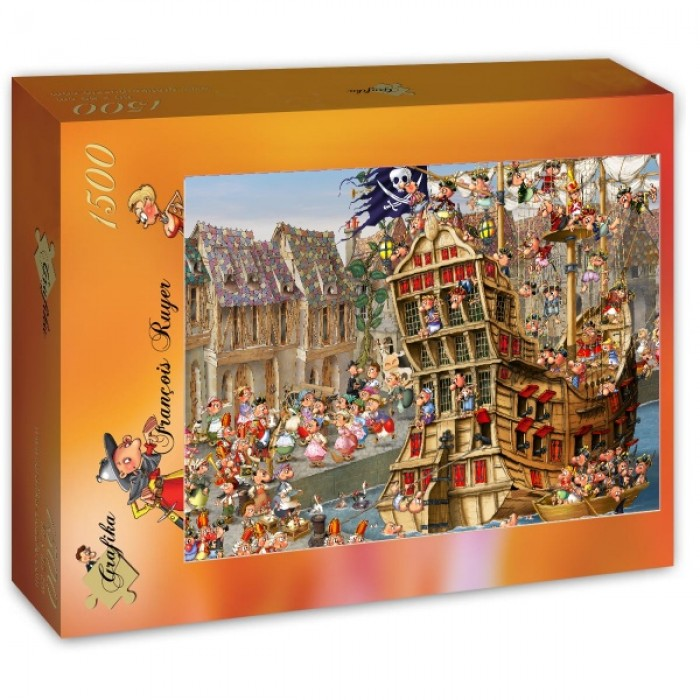 Puzzle Grafika-T-00480 François Ruyer - Pirates