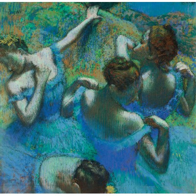 grafika-Puzzle - 1500 pieces - Edgar Degas - The Blue Dancers, 1897