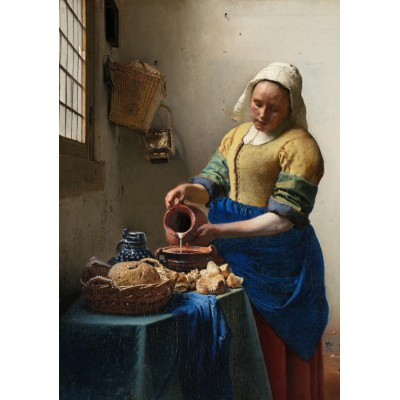 grafika-Puzzle - 1000 pieces - Johannes Vermeer - The Milkmaid, 1658